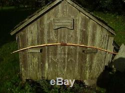 Pacific Yew Snakey Primitive style 40lbs@25 hunting bow selfbow Linen string
