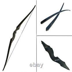 Premium Black Turkish Straight Horse bow Outdoor Hunting Takedown Recurve Longbo