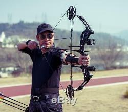 Pro CompoundBow Kit 30-75lbs RH Archery Hunting 16-32 Draw Length 320FPS Arrow