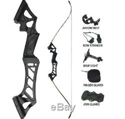 Right Hand 35LBS Archery Recurve Takedown Bows Sets Hunting Target 57 Practice