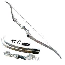 Right Hand 45lbs Archery Take Down Recurve Bows Set s 57 Camouflage Sports