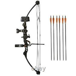 SAS Siege 55 lb 29 Compound Bow Pro Hunting Package with Carbon Arrows