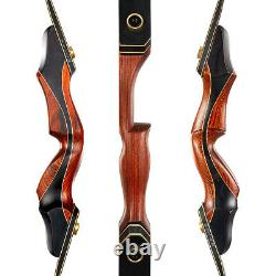 TOPARCHERY Laminated Takedown Recurve Bow Hunting & Target Arrows Quiver Set