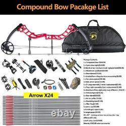 Topoint Archery Compound Bow 19-30 Right Hand Hunting Shooting Archery Target
