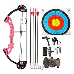 Youth Archery Compound Bow Arrows Set Junior Outdoor Gift Shooting Beginner Hunt